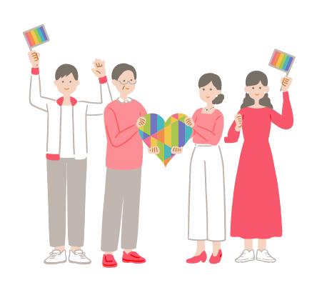 LGBT対応マナー研修 イメージ画像
