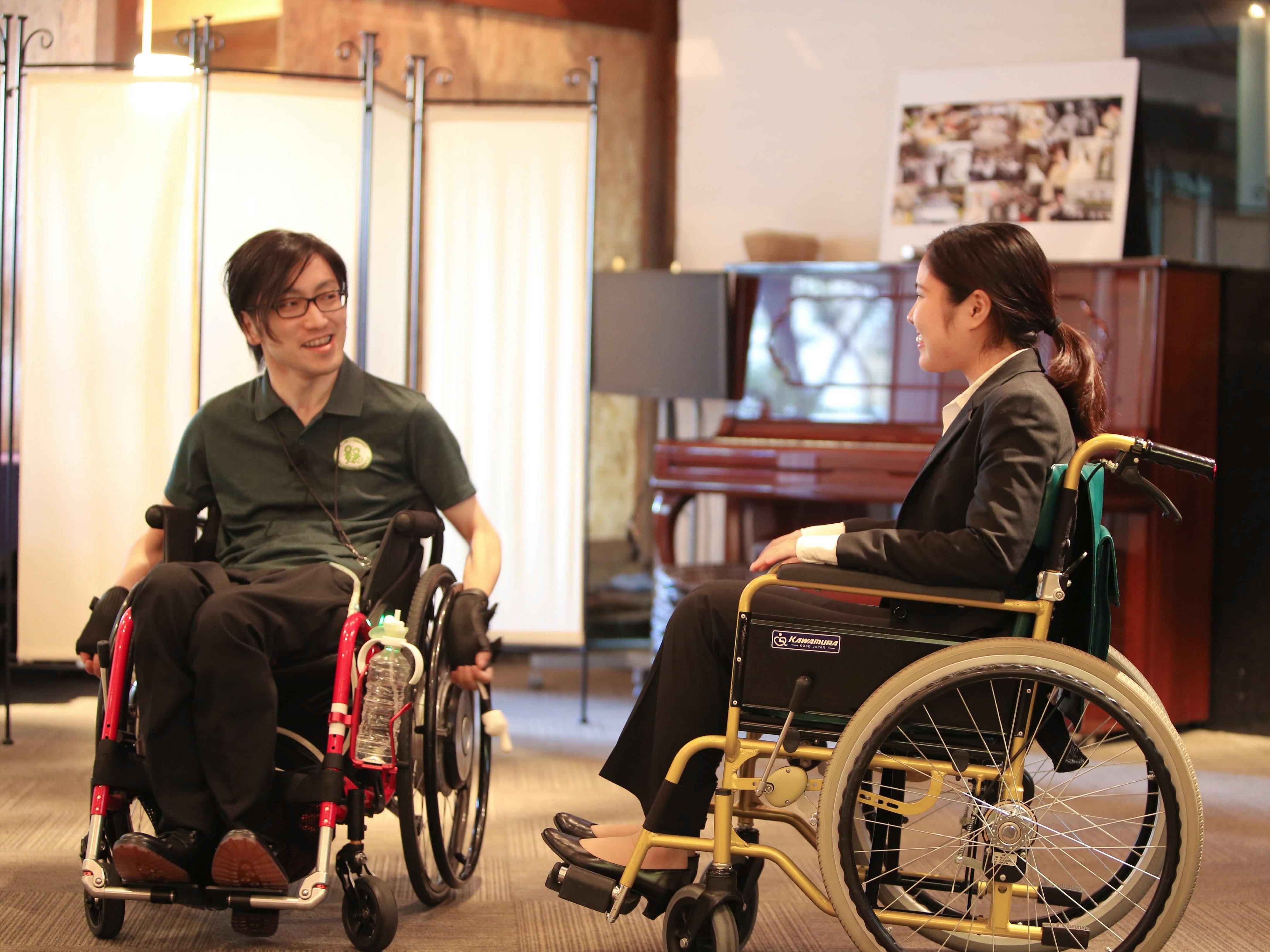 車椅子乗車体験の様子